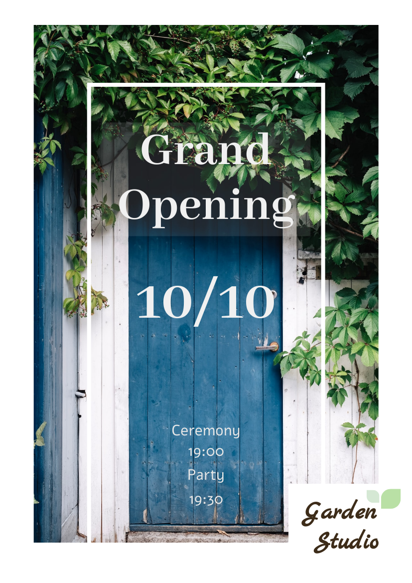 Flyer template: Natural studio Grand Opening Flyer (Created by InfoART's Flyer maker)