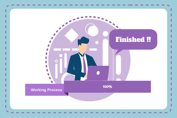 Progress template: Finish Working  (Created by InfoChart's Progress maker)