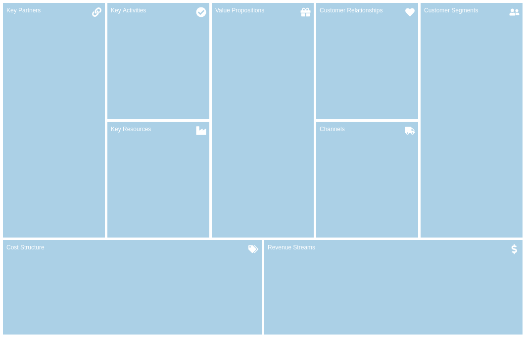 Business Model Canvas template: Vibrant (Created by Diagrams's Business Model Canvas maker)