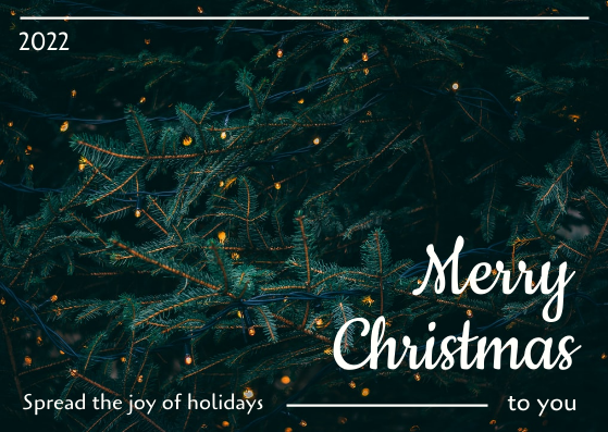 Postcard template: Joy Of Christmas Postcard (Created by InfoART's Postcard maker)