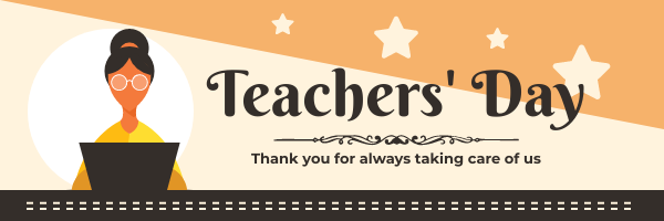 Email Header template: Illustrated Teachers' Day Celebration Email Header (Created by InfoART's Email Header maker)