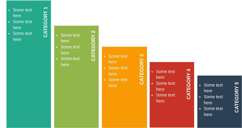 List Block Diagram template: Descending Block List (Created by Diagrams's List Block Diagram maker)