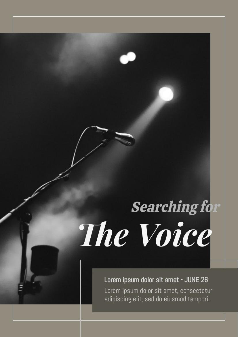 Flyer template: Singing Contest Flyer (Created by InfoART's Flyer maker)