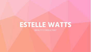 Business Card template: Pink Geometric Beauty Consultant Business Card (Created by InfoART's Business Card maker)