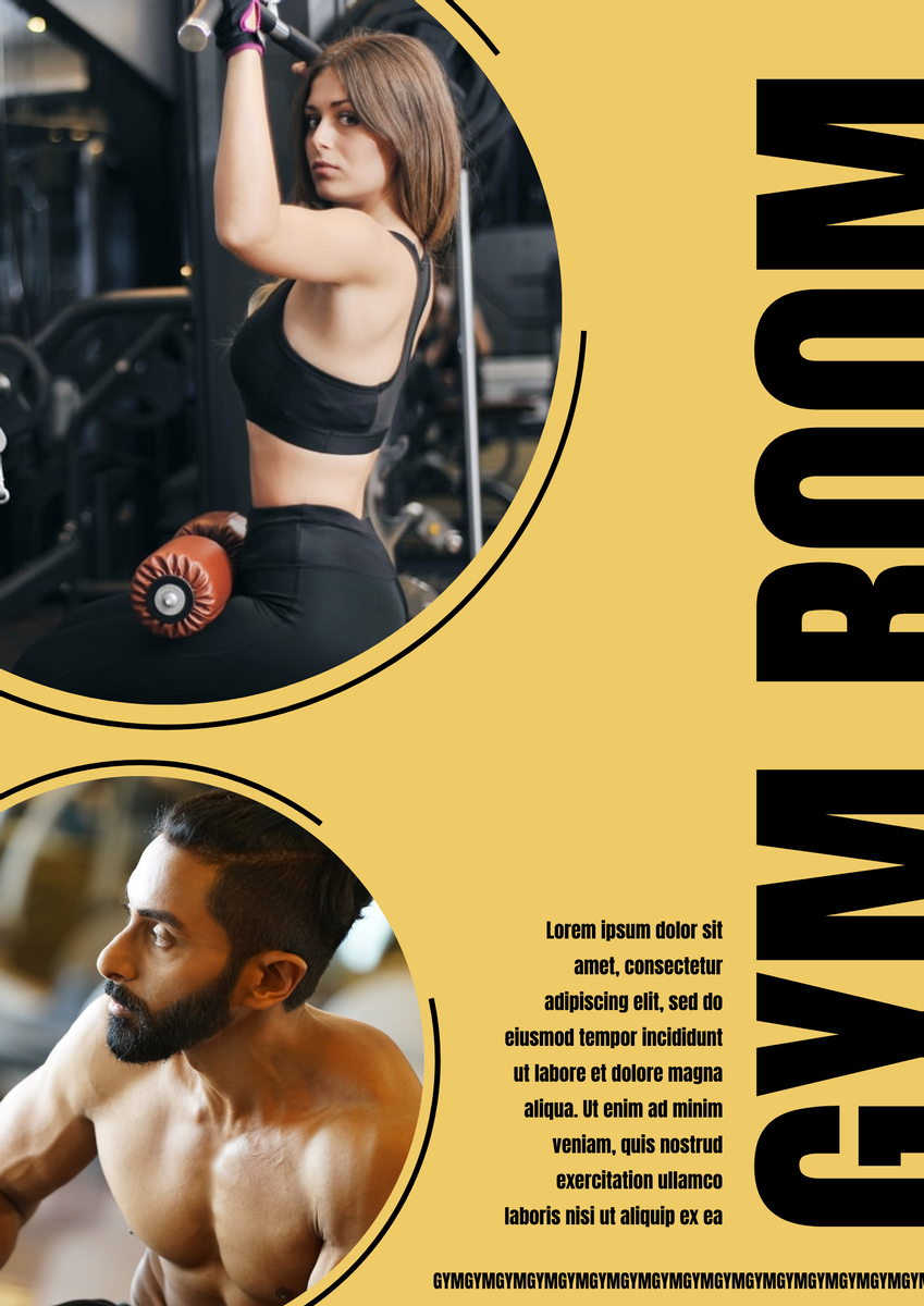Poster template: Gym Poster (Created by InfoART's Poster marker)