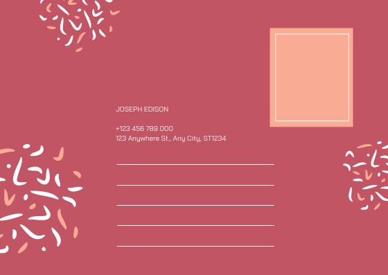 Postcard template: Pink New Year Celebration Postcard (Created by InfoART's Postcard maker)