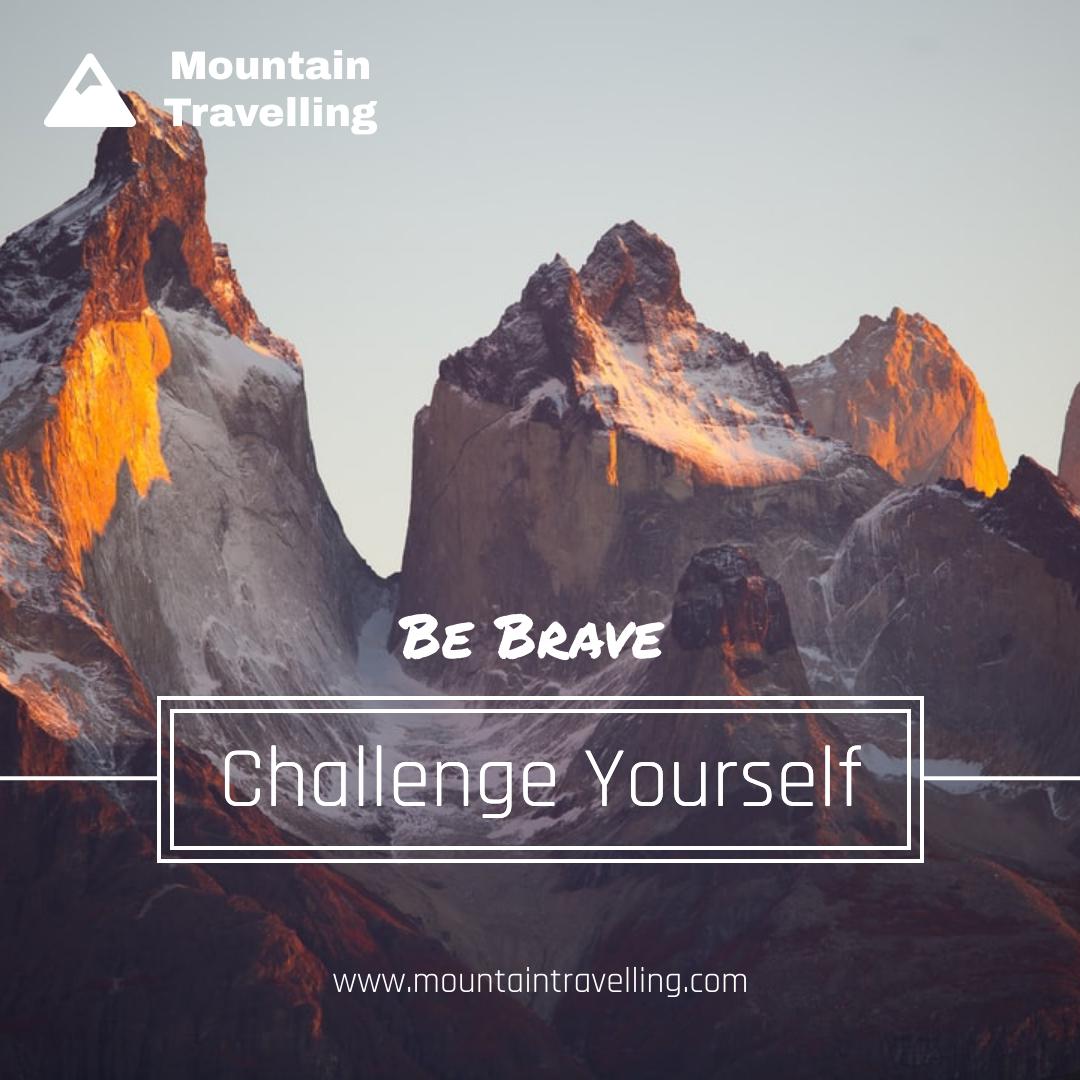 Instagram Post template: Challenge Yourself Mountain View Instagram Post (Created by InfoART's Instagram Post maker)
