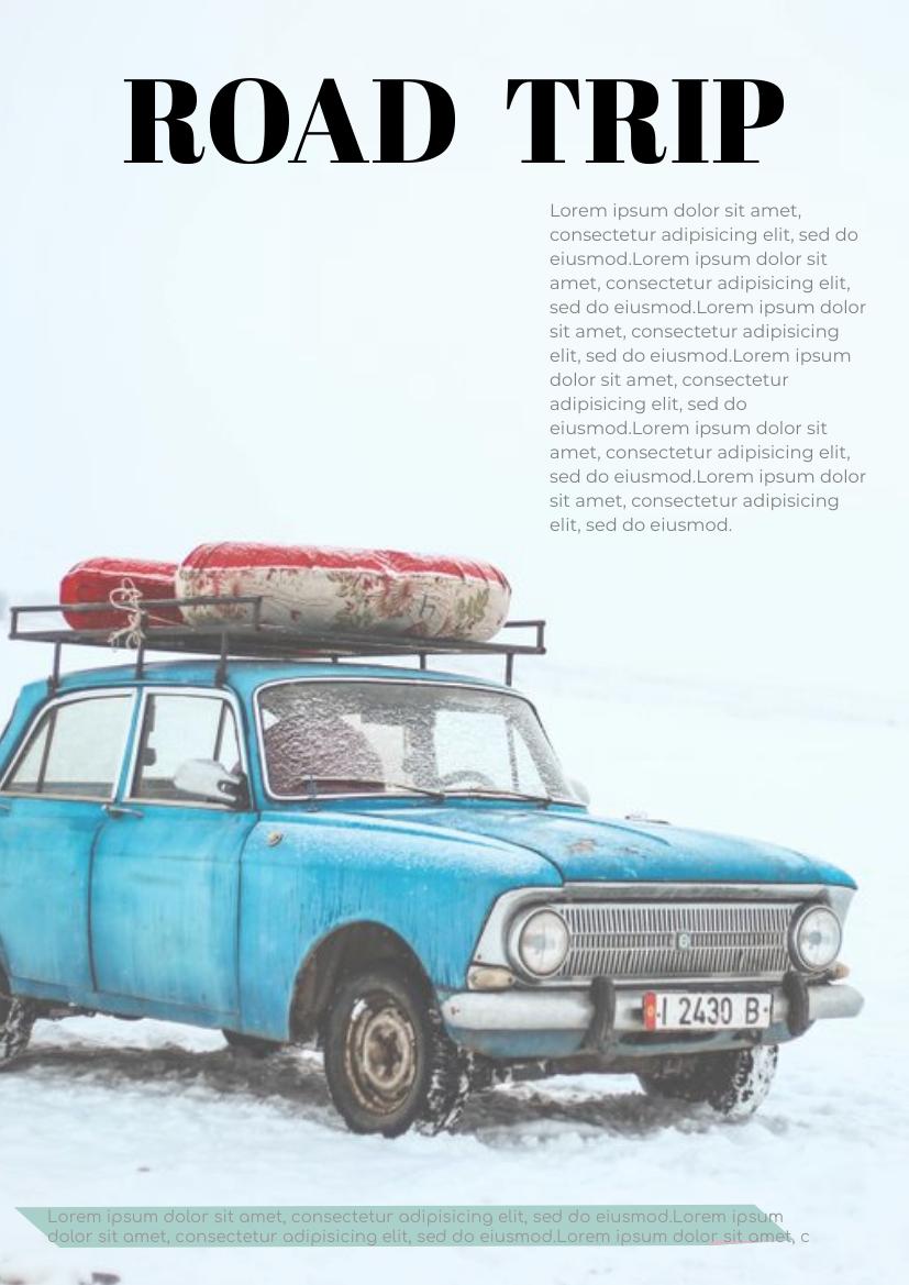 Flyer template: Road Trip Flyer (Created by InfoART's Flyer maker)