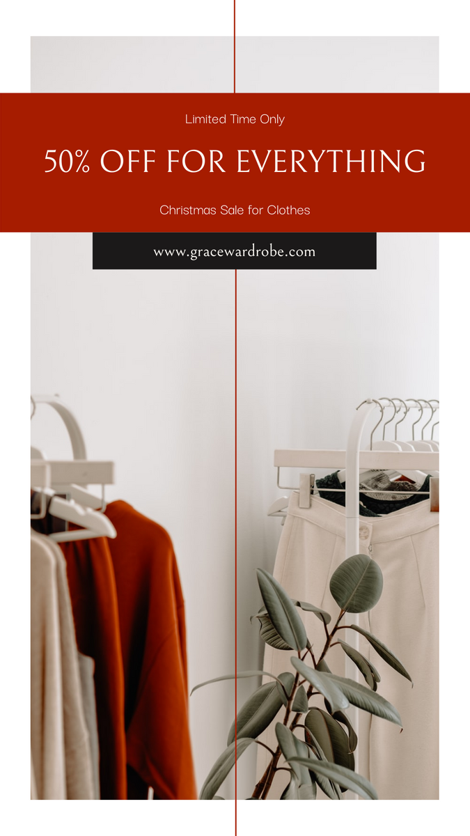 Instagram Story template: Red And Black Clothes Sale Instagram Story (Created by InfoART's Instagram Story maker)