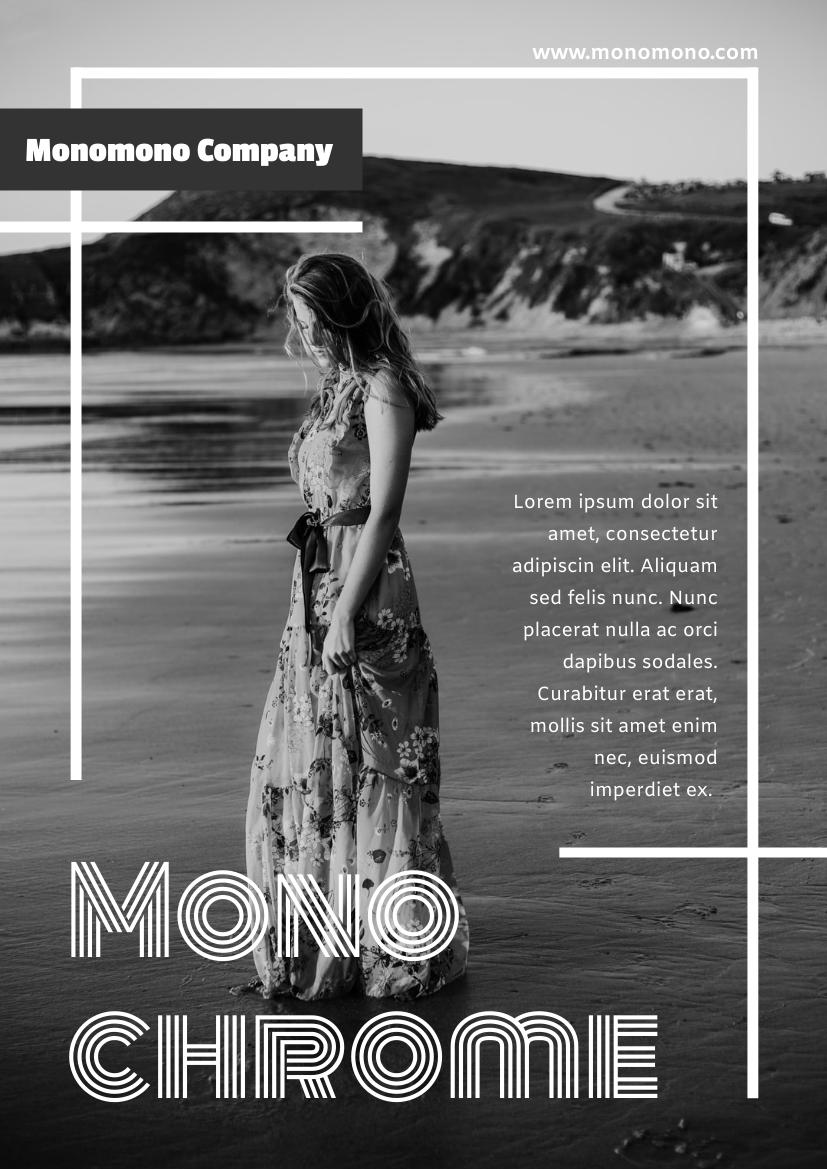 Flyer template: Monochrome Clothing Series Flyer (Created by InfoART's Flyer maker)