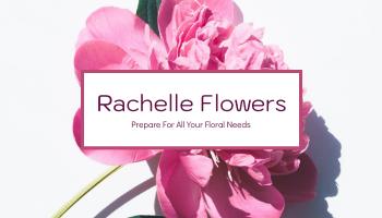 Business Card template: Blossom Pink Florist Company Business Card (Created by InfoART's Business Card maker)
