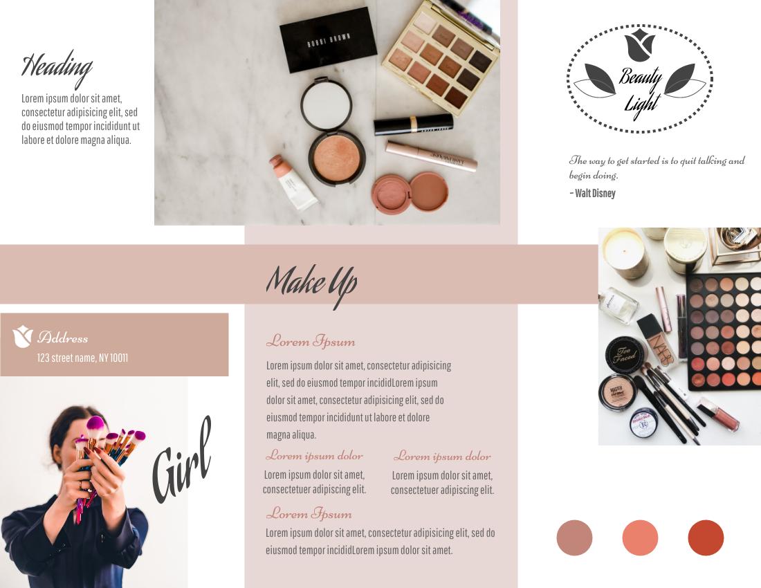 Brochure template: Makeup Brochure (Created by InfoART's Brochure maker)