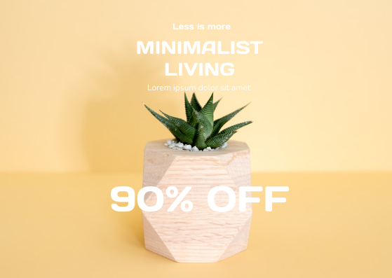 Gift Card template: Minimalist Plant Gift Card (Created by InfoART's Gift Card maker)