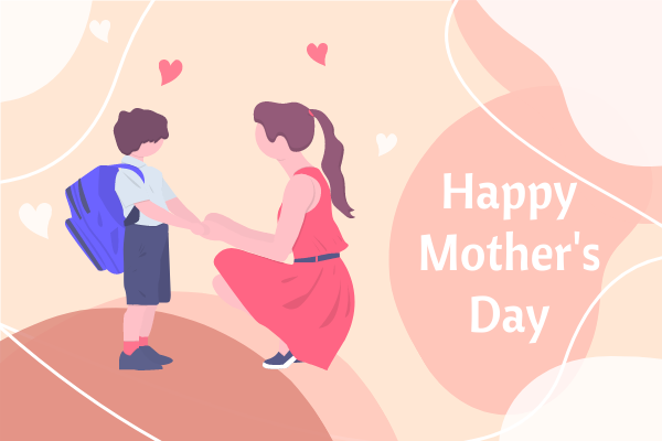 Greeting Card template: Happy Mother's Day Illustration Greeting Card (Created by InfoART's Greeting Card maker)