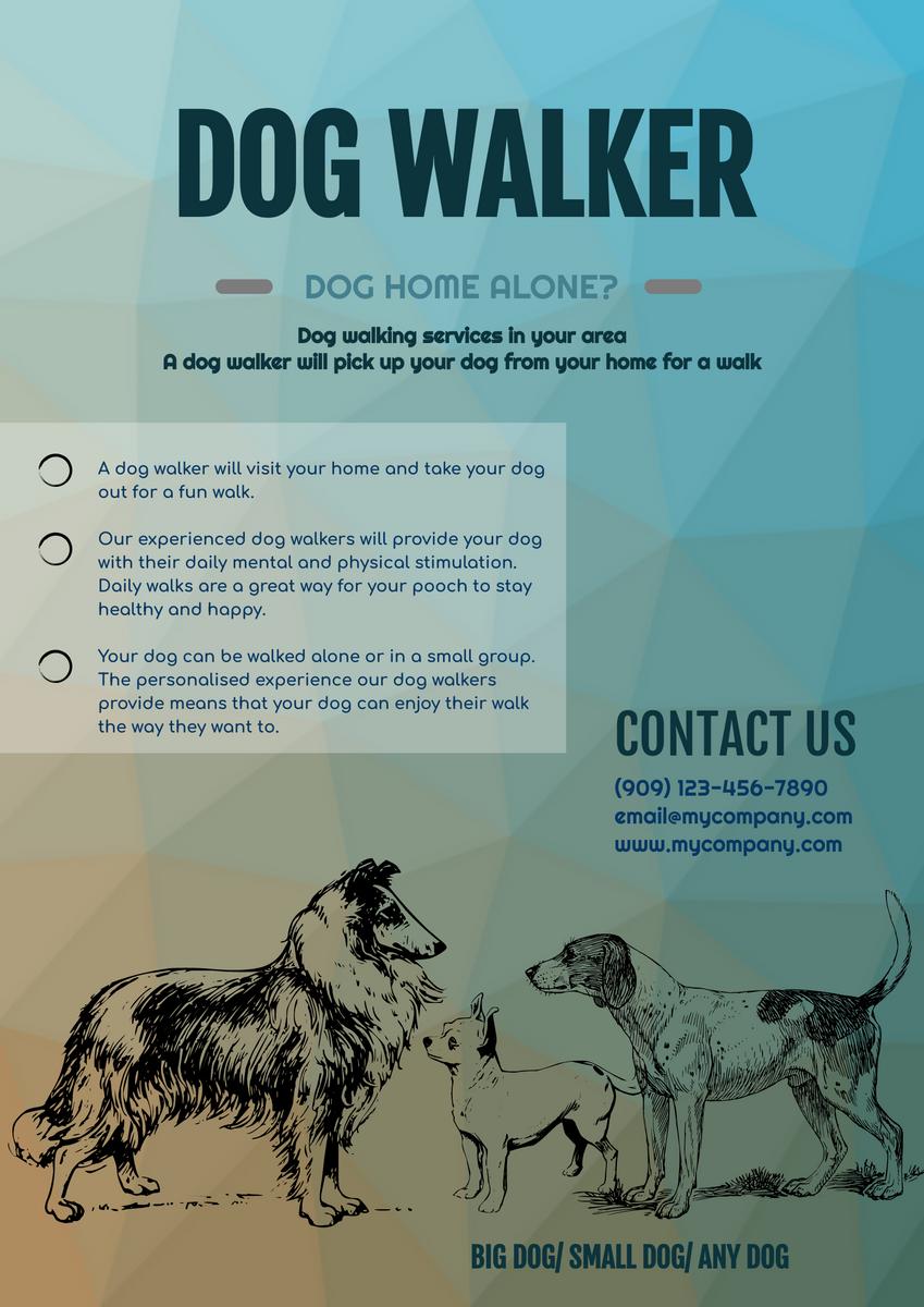 Poster template: Dog Walker Poster (Created by InfoART's Poster maker)