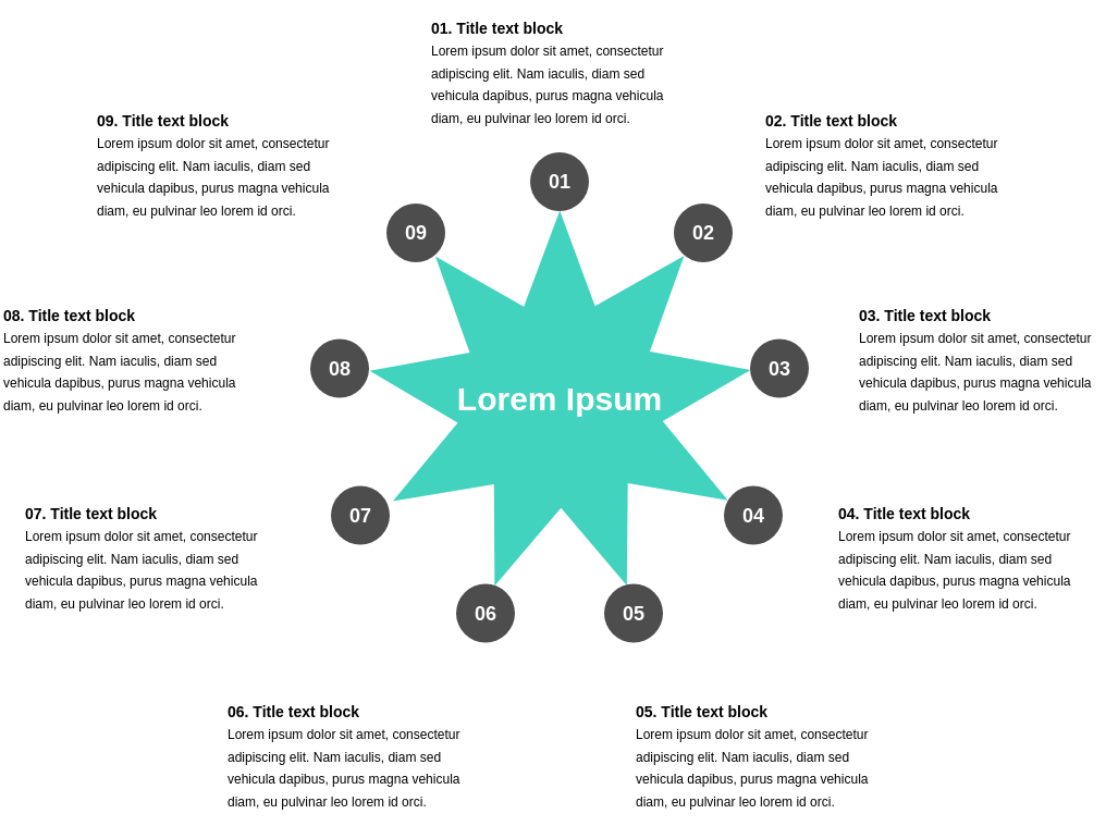 9 Segment Star Diagram Template (Star Diagram Example)