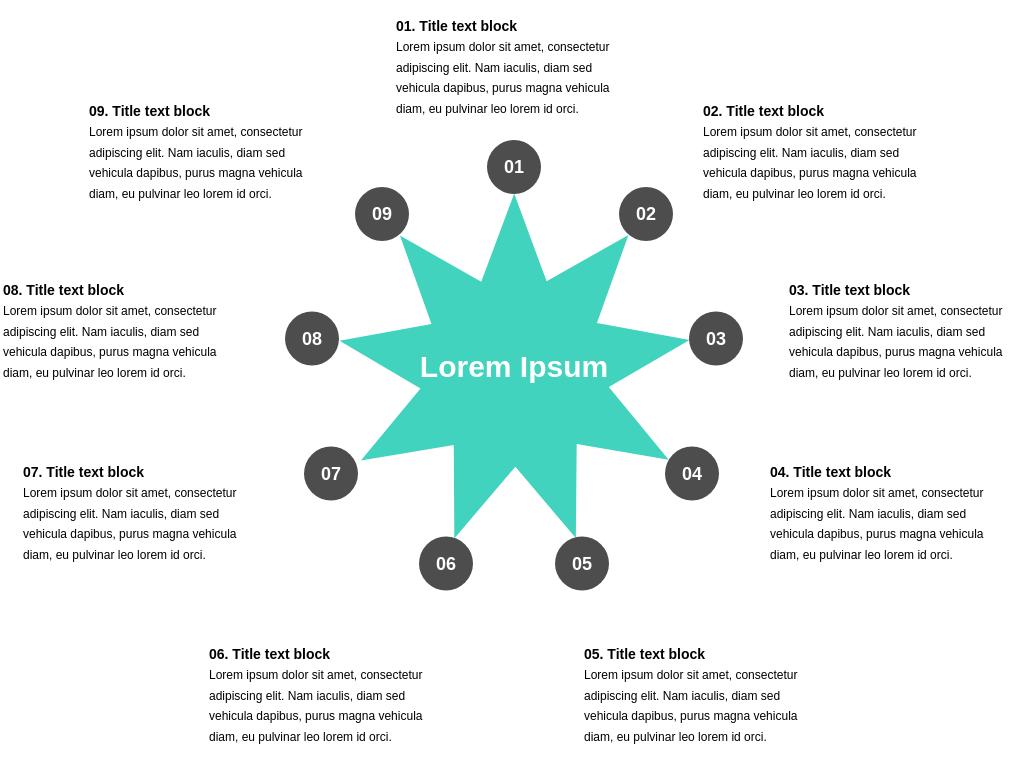 9 Segment Star Diagram Template (Star Diagram Example)