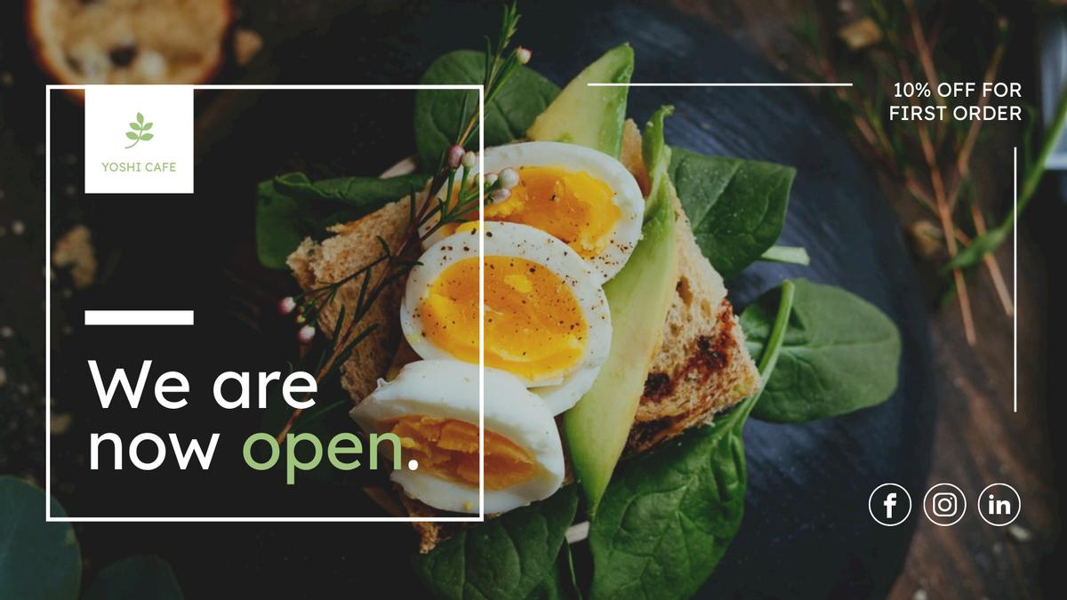Twitter Post template: Restaurant Opening Promotion Twitter Post (Created by InfoART's Twitter Post maker)