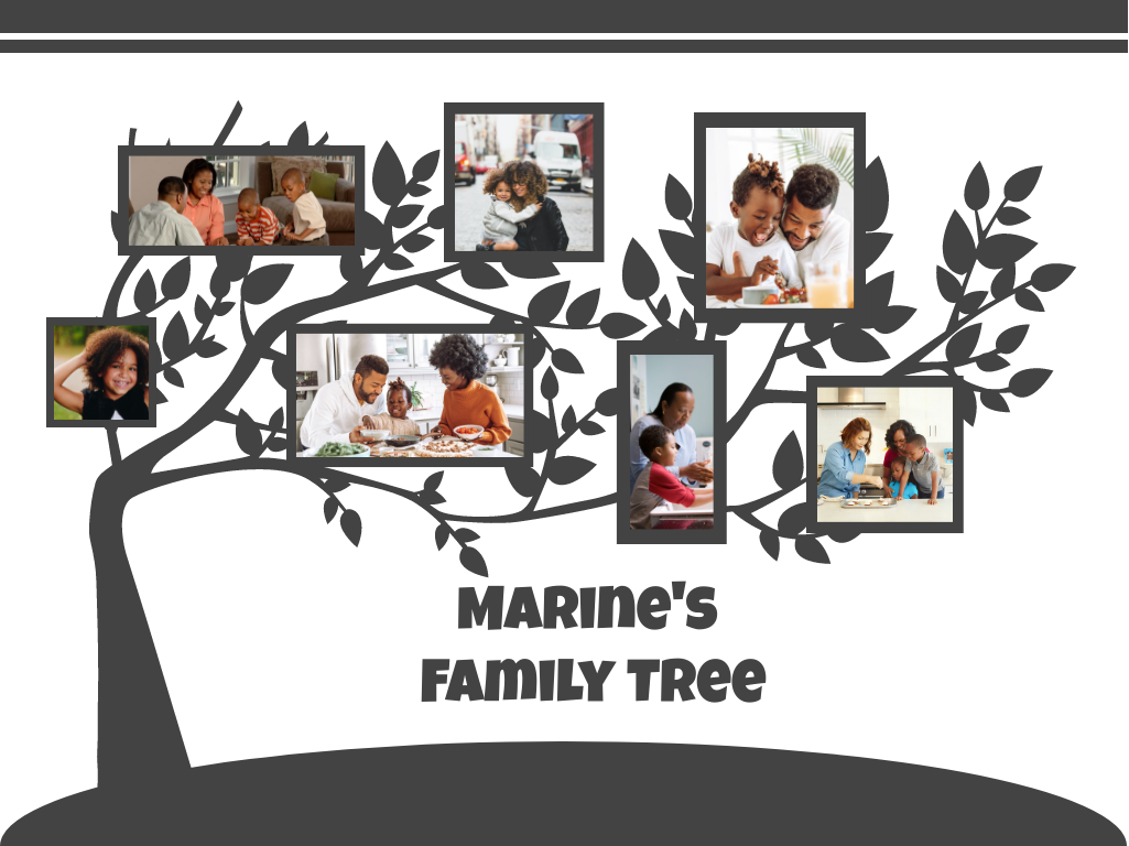 Family Tree template: Graphic Design Family Tree (Created by Collage's Family Tree maker)