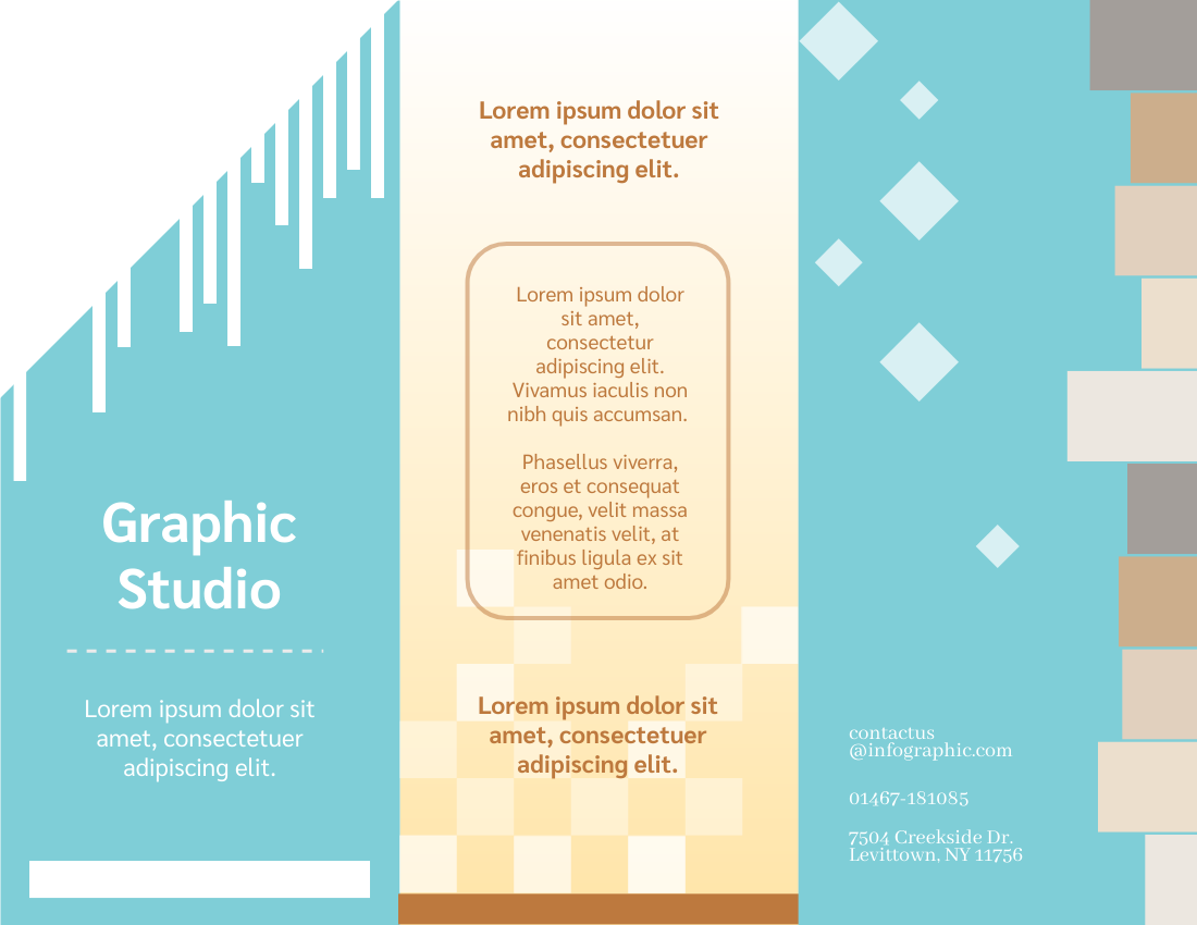 Brochure template: Graphic Studio Brochure (Created by InfoART's Brochure maker)
