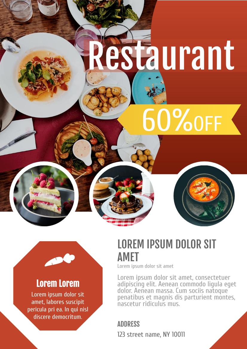 Flyer template: Restaurant Flyer (Created by InfoART's Flyer maker)