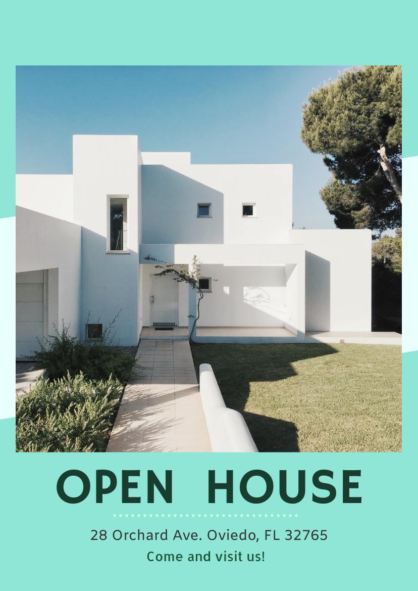Flyer template: Open House Flyer (Created by InfoART's Flyer maker)