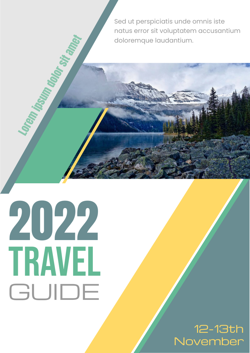 Flyer template: 2020 Travel Guide (Created by InfoART's Flyer maker)