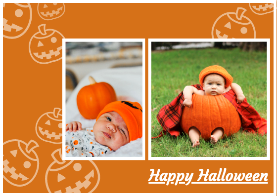 Post Card template: Halloween Post Card (Created by InfoART's Post Card marker)