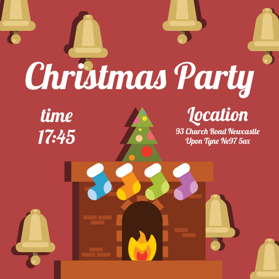 Invitation template: Christmas Party Invitation (Created by InfoART's Invitation marker)