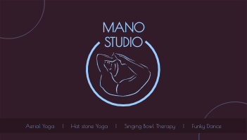 Business Card template: Yoga Business Card (Created by InfoART's Business Card maker)