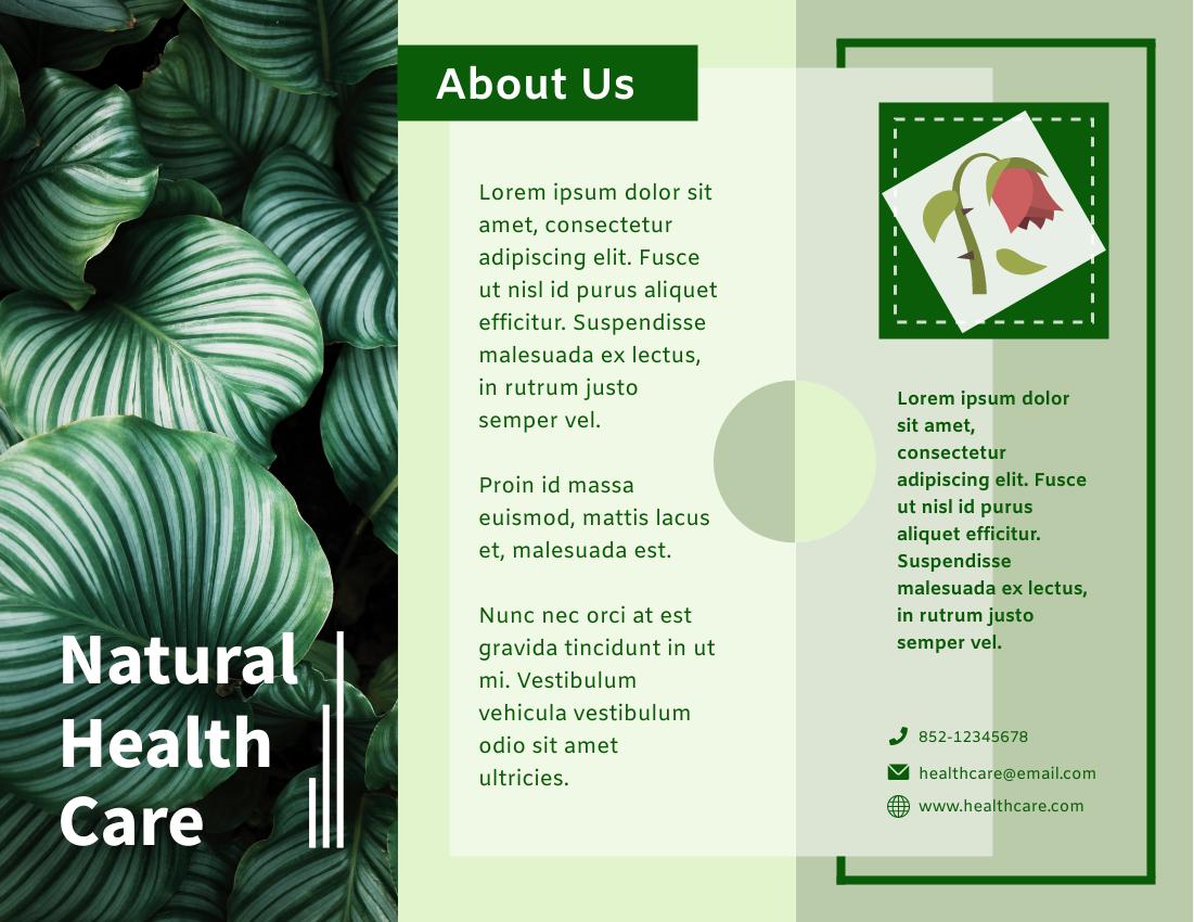 Brochure template: Natural Health Care Brochure (Created by InfoART's Brochure marker)