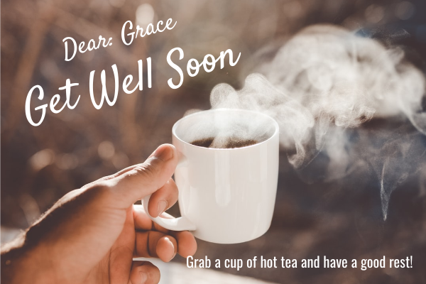 Greeting Card template: Get Well Soon Greeting Card (Created by InfoART's Greeting Card maker)