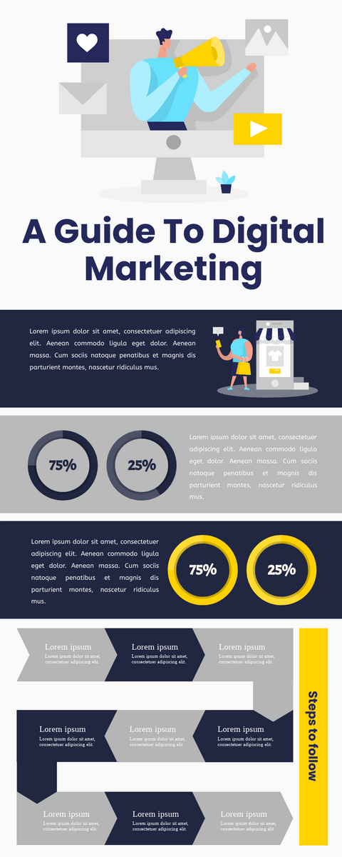 Infographic template: Digital Marketing Infographic (Created by InfoART's Infographic maker)