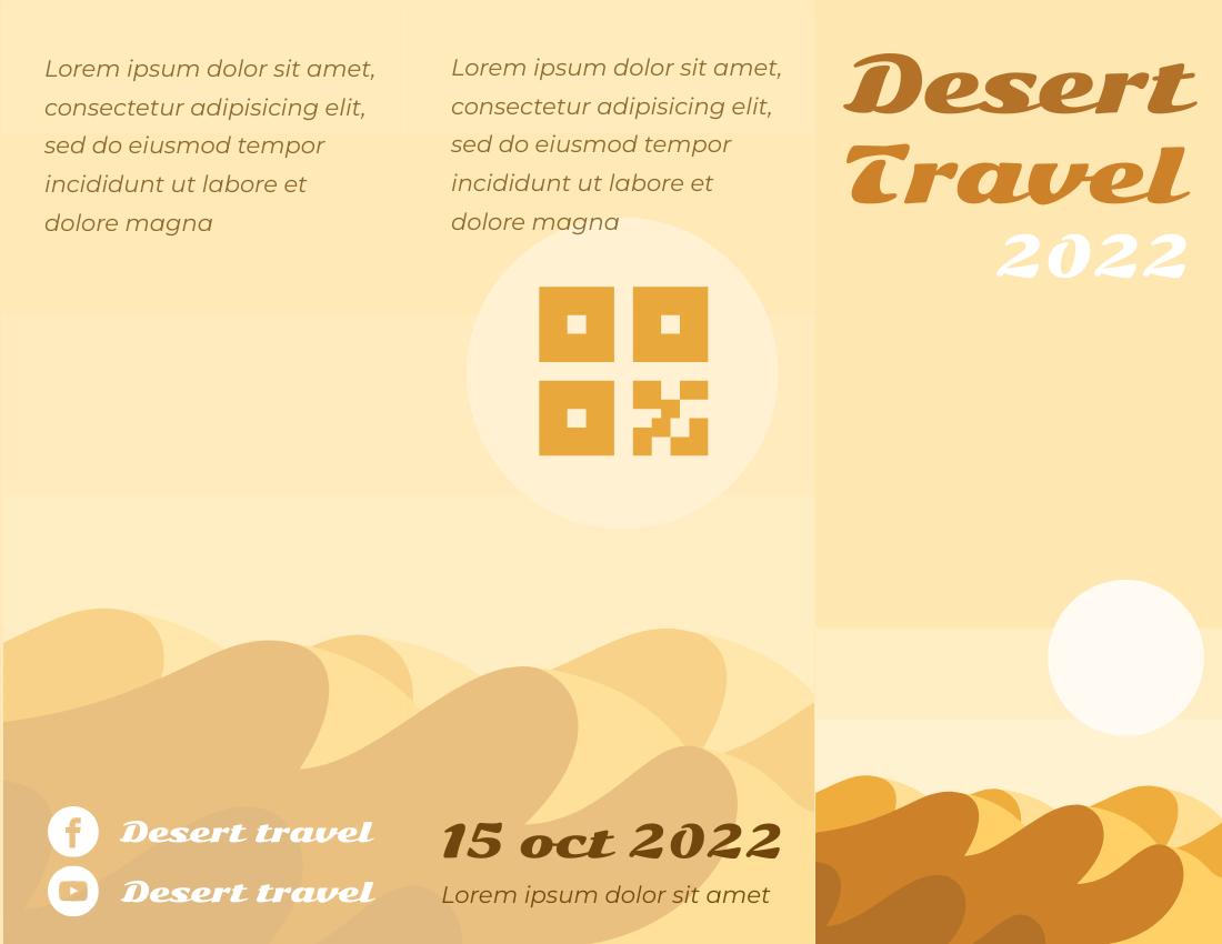 Brochure template: Desert Travel Brochure (Created by InfoART's Brochure marker)