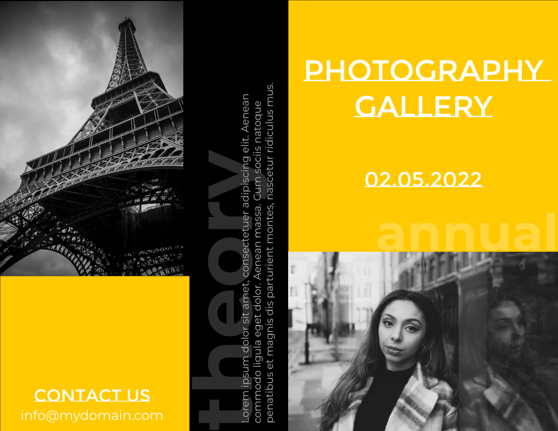 Brochure template: Photography Gallery Brochure (Created by InfoART's Brochure maker)