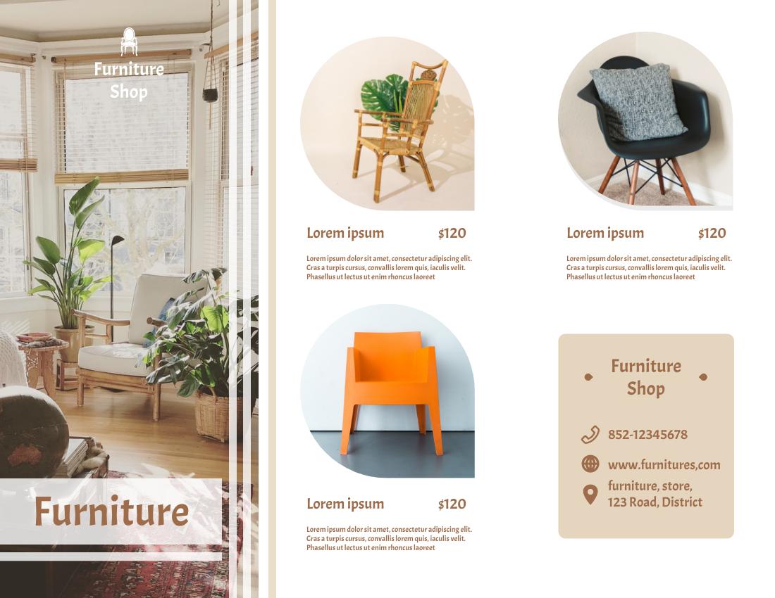 Brochure template: Furniture Brochure 2 (Created by InfoART's Brochure marker)