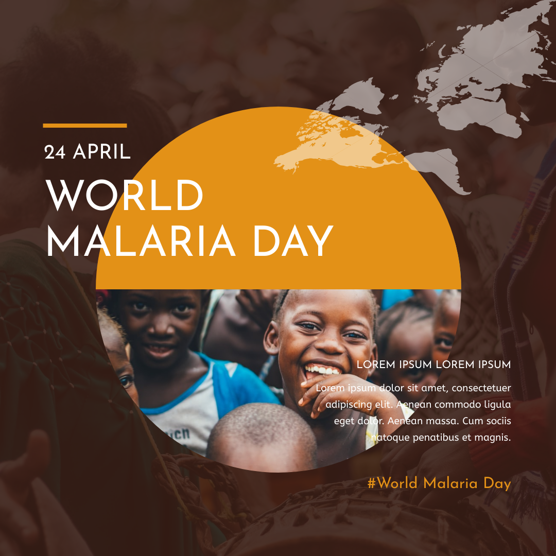 Instagram Post template: Orange And Brown World Malaria Day Instagram Post (Created by InfoART's Instagram Post maker)