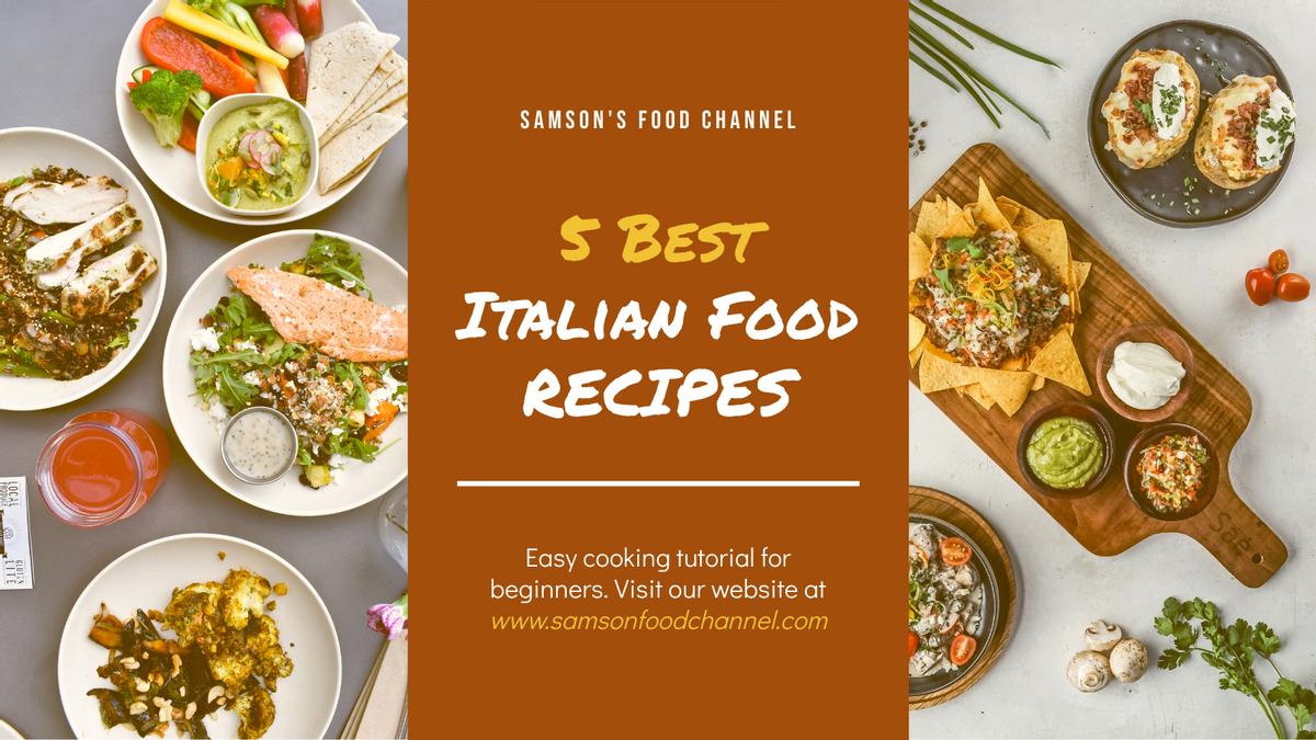 Twitter Post template: Italian Food Recipe Cooking Twitter Post (Created by InfoART's Twitter Post maker)