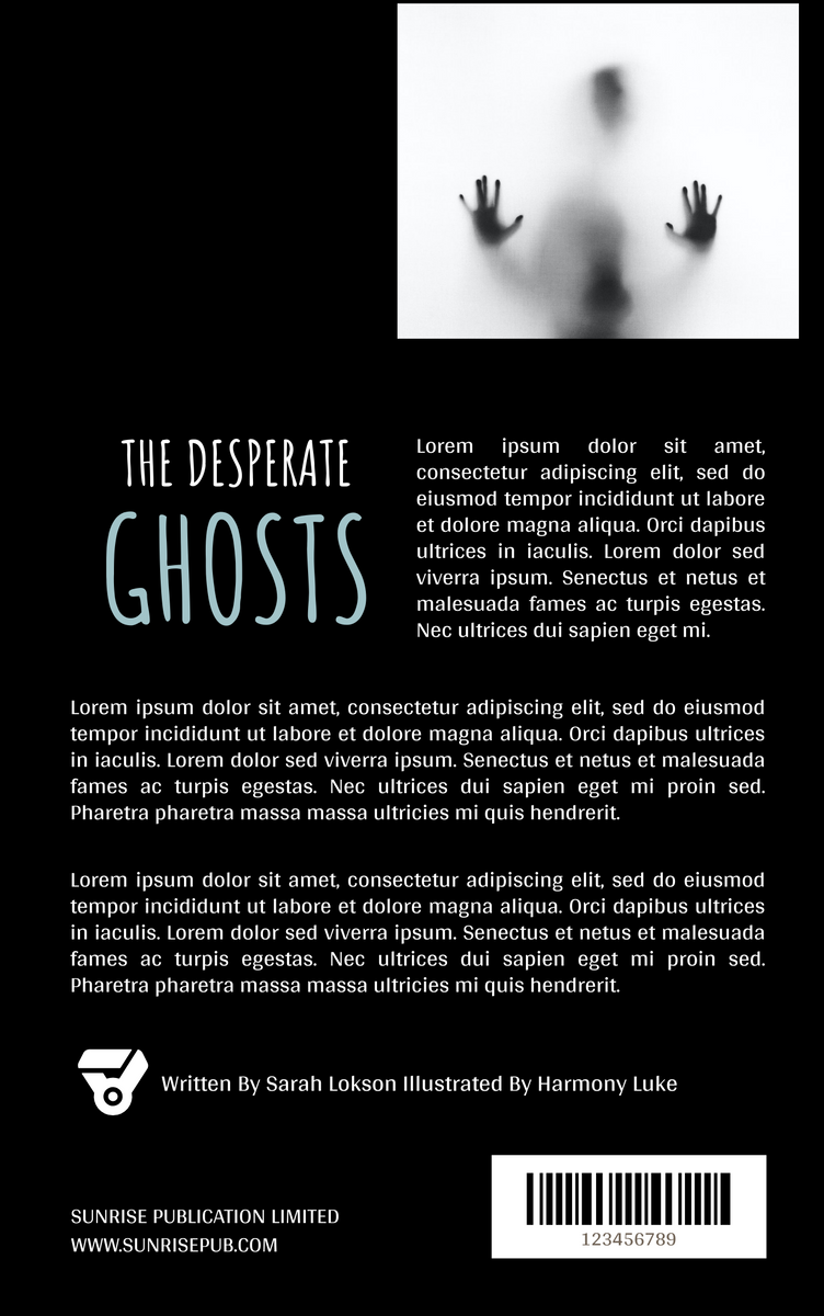 Book Cover template: Haunted Ghost Stories Book Cover (Created by InfoART's Book Cover maker)