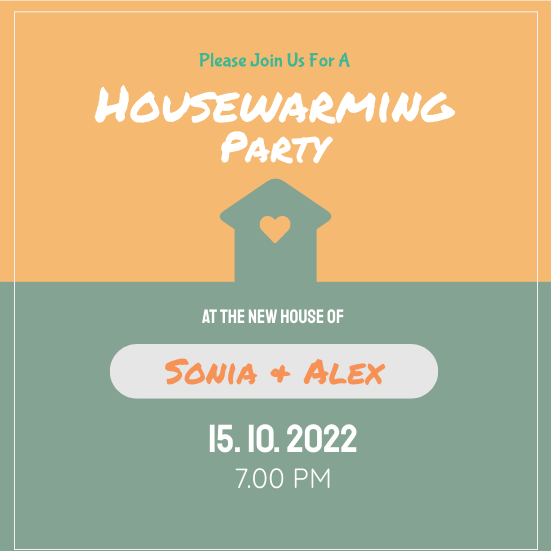 Invitation template: SA Housewarming Party (Created by InfoART's Invitation marker)