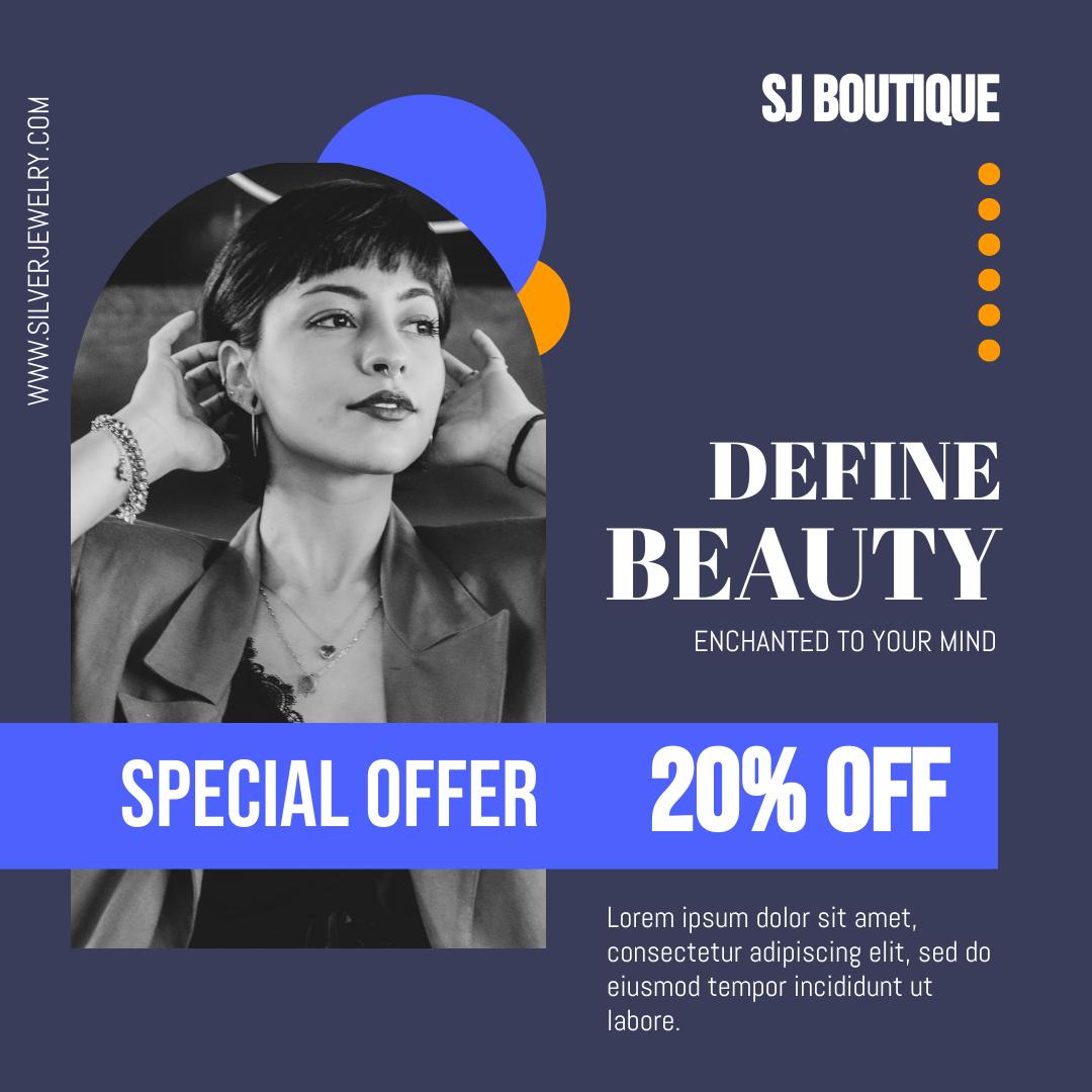 Instagram Post template: Redefine Beauty Jewelry Store Instagram Post (Created by InfoART's Instagram Post maker)