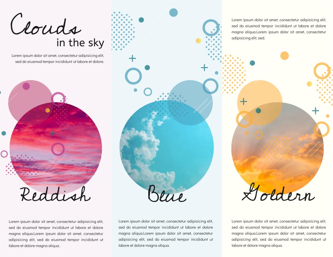 Brochure template: Cloud In Different Colours Brochure (Created by InfoART's Brochure maker)
