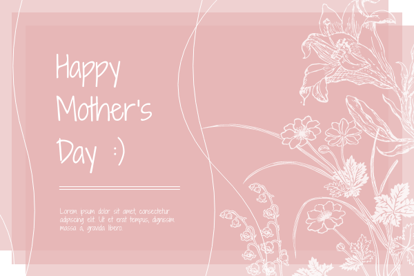 Greeting Card template: Happy Mother's Day Flowers Greeting Card (Created by InfoART's Greeting Card marker)