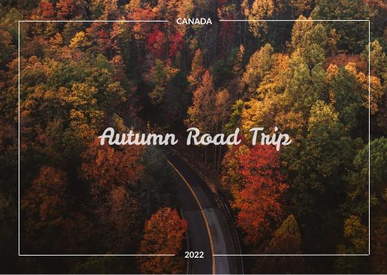 Postcard template: Autumn Road Trip Postcard (Created by InfoART's Postcard maker)