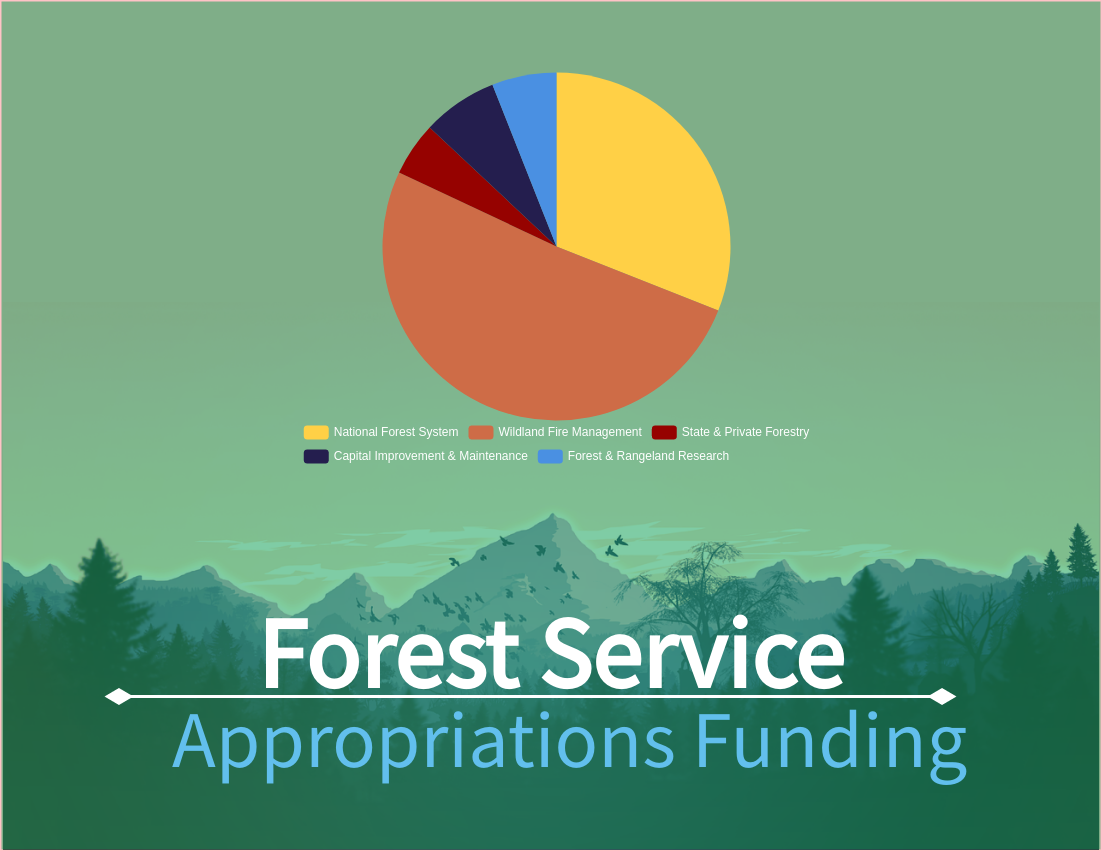 Pie Chart template: Forest Service Appropriations Funding (Created by Diagrams's Pie Chart maker)