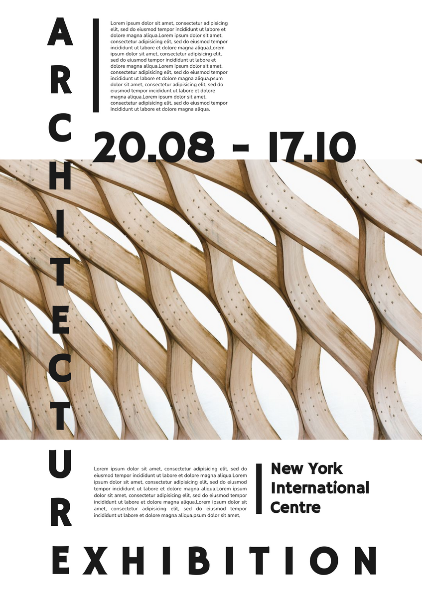 Poster template: Architecture Exhibition Poster (Created by InfoART's Poster marker)