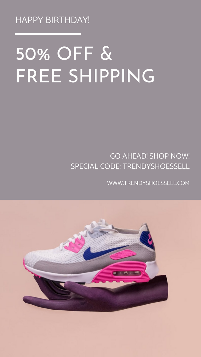 Instagram Story template: Pink And Grey Shoes Photo Shopping Instagram Story (Created by InfoART's Instagram Story maker)
