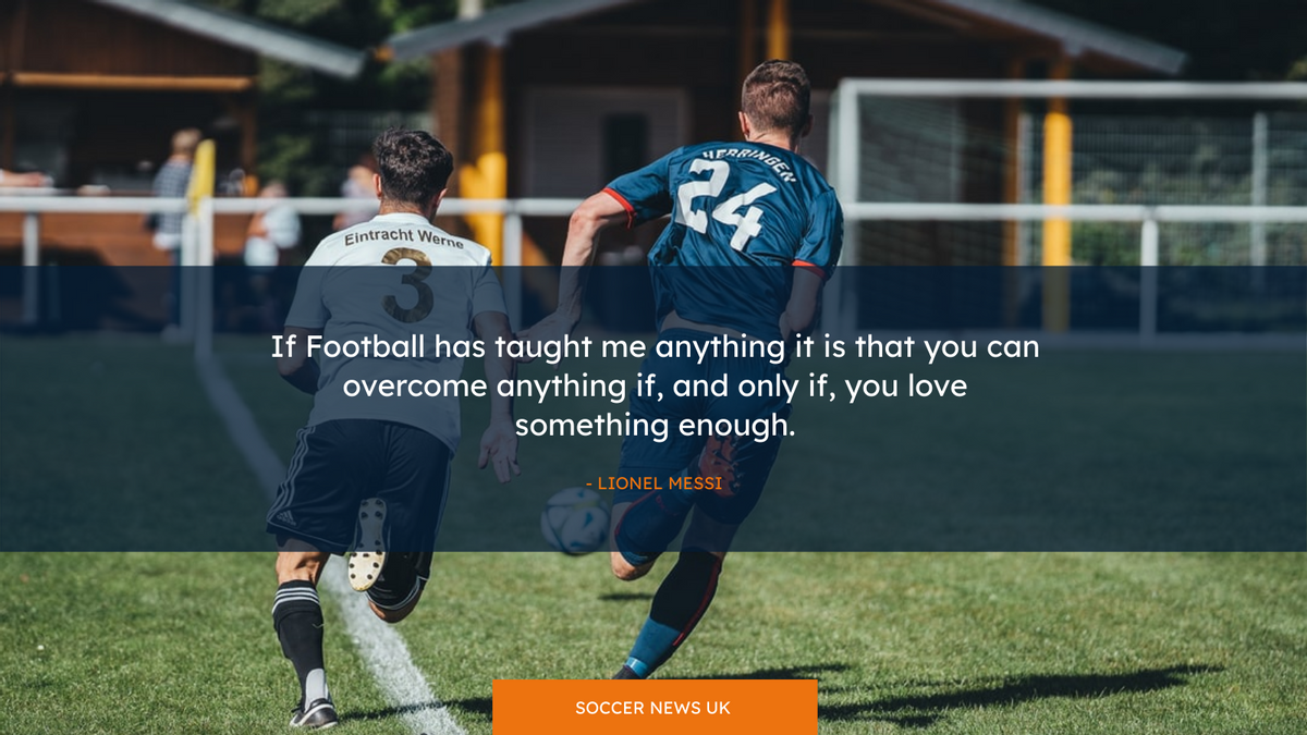 Twitter Post template: Football Photo Sports Quote Twitter Post (Created by InfoART's Twitter Post maker)