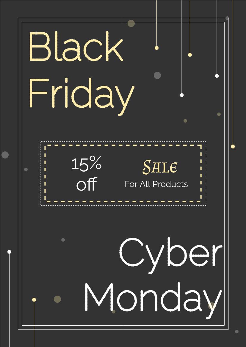 傳單模板:黑色星期五和網絡星期一點傳單(由InfoART的傳單標記創建)