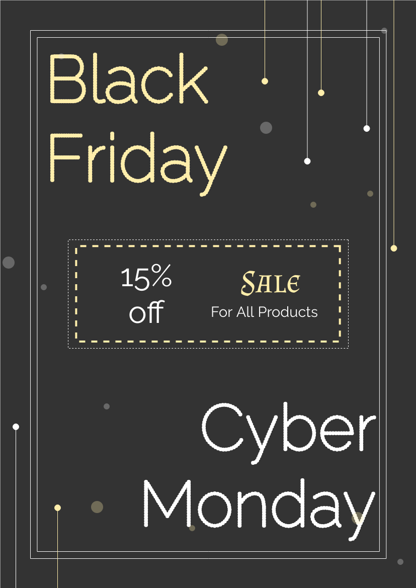 Flyer template: Black Friday And Cyber Monday Flyer (Created by InfoART's Flyer maker)